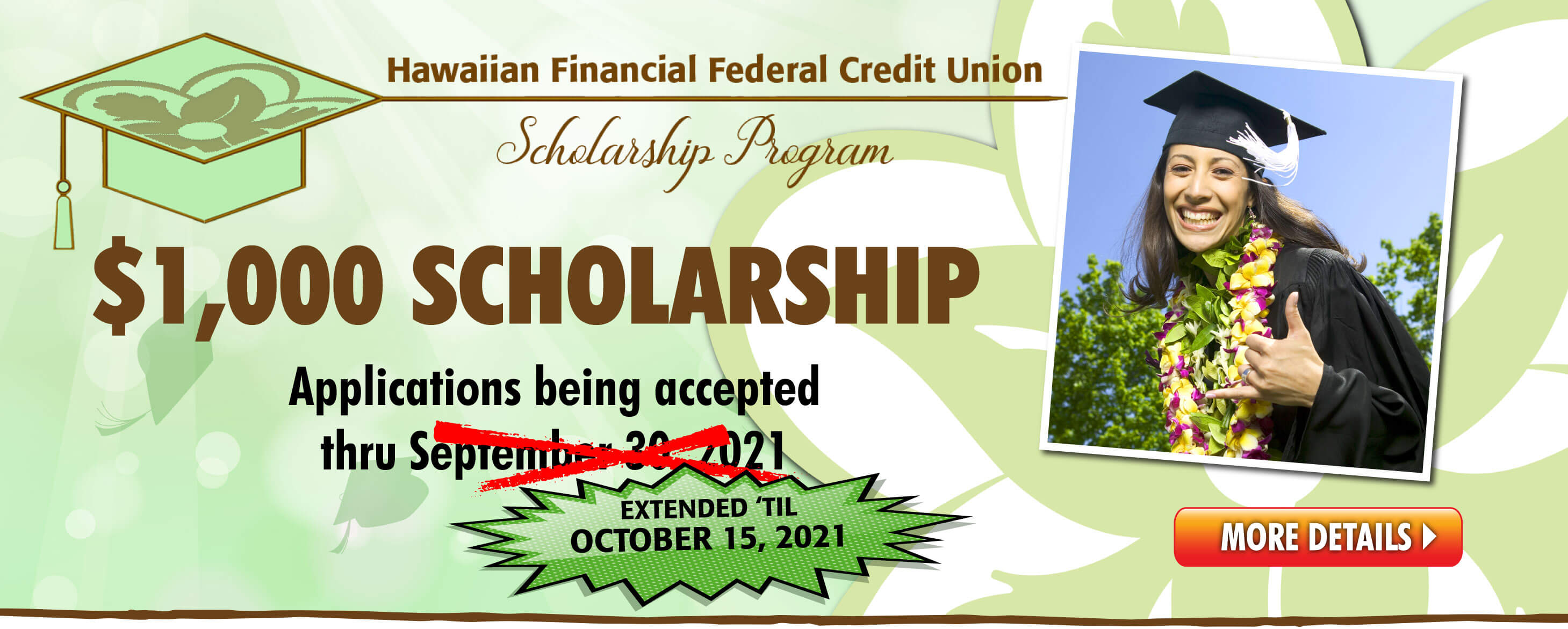 Get a $1,000 Scholarship from HIFICU