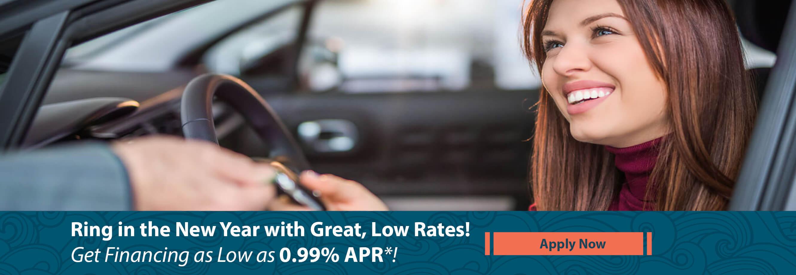 Get Financing As Low As .99% APR