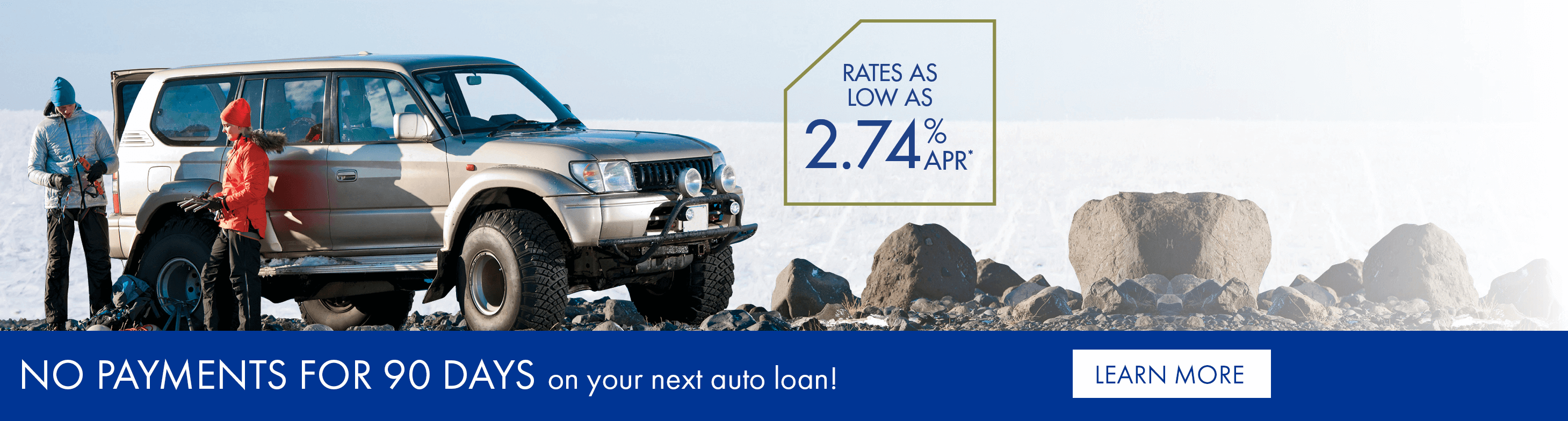 No payments for 90 days on your next auto loan!