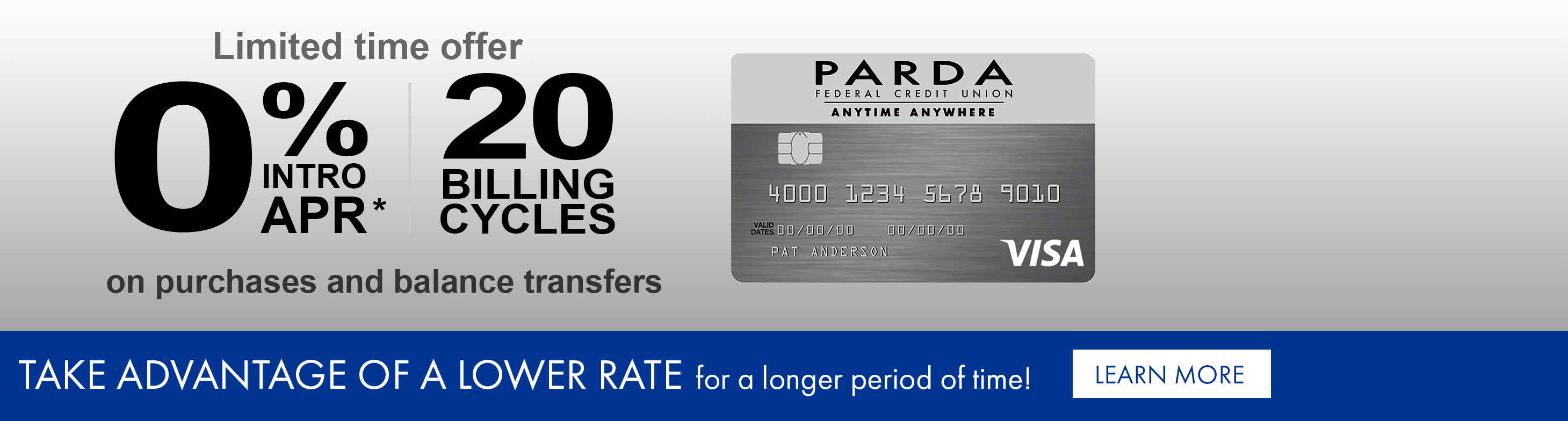 Take advantage of a lower interest rate for a longer period of time!