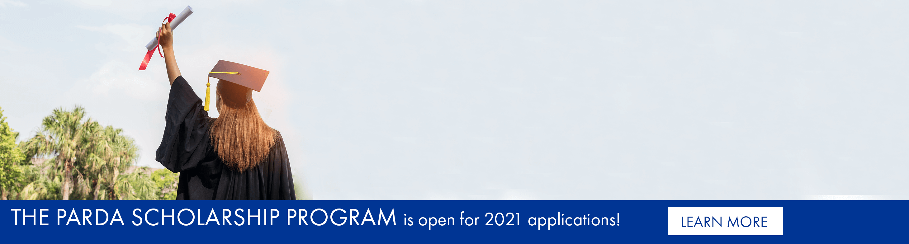 The PARDA scholarship program is open for 2021 applications!