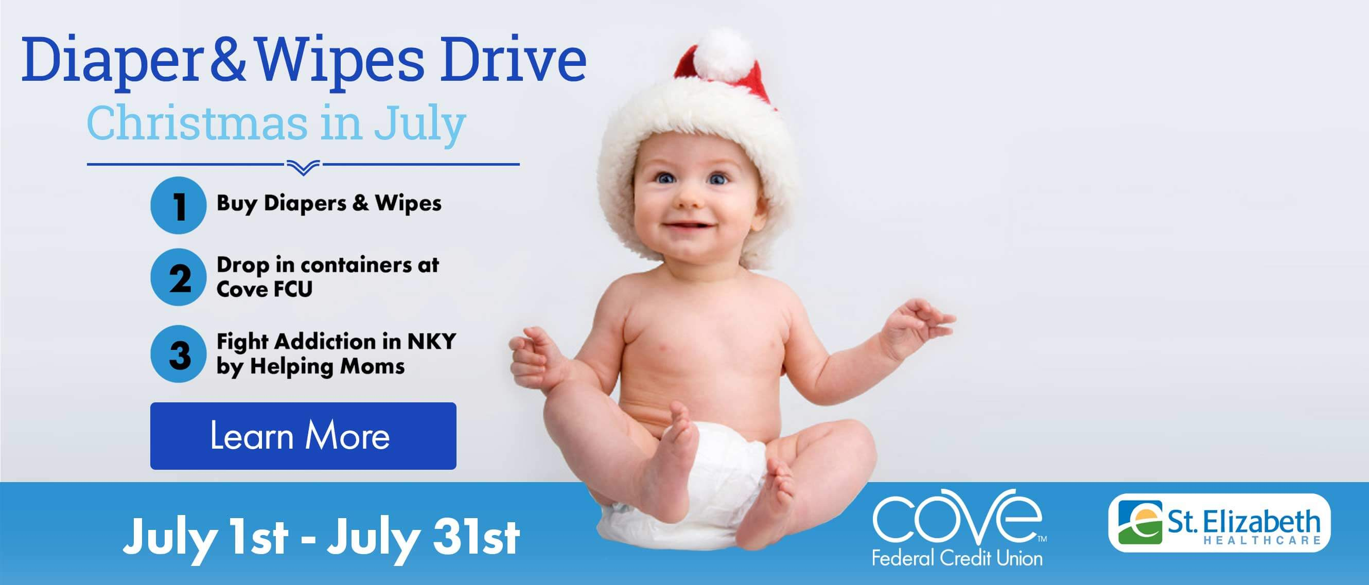 Diapers & Wipes Drive Christmas In July
