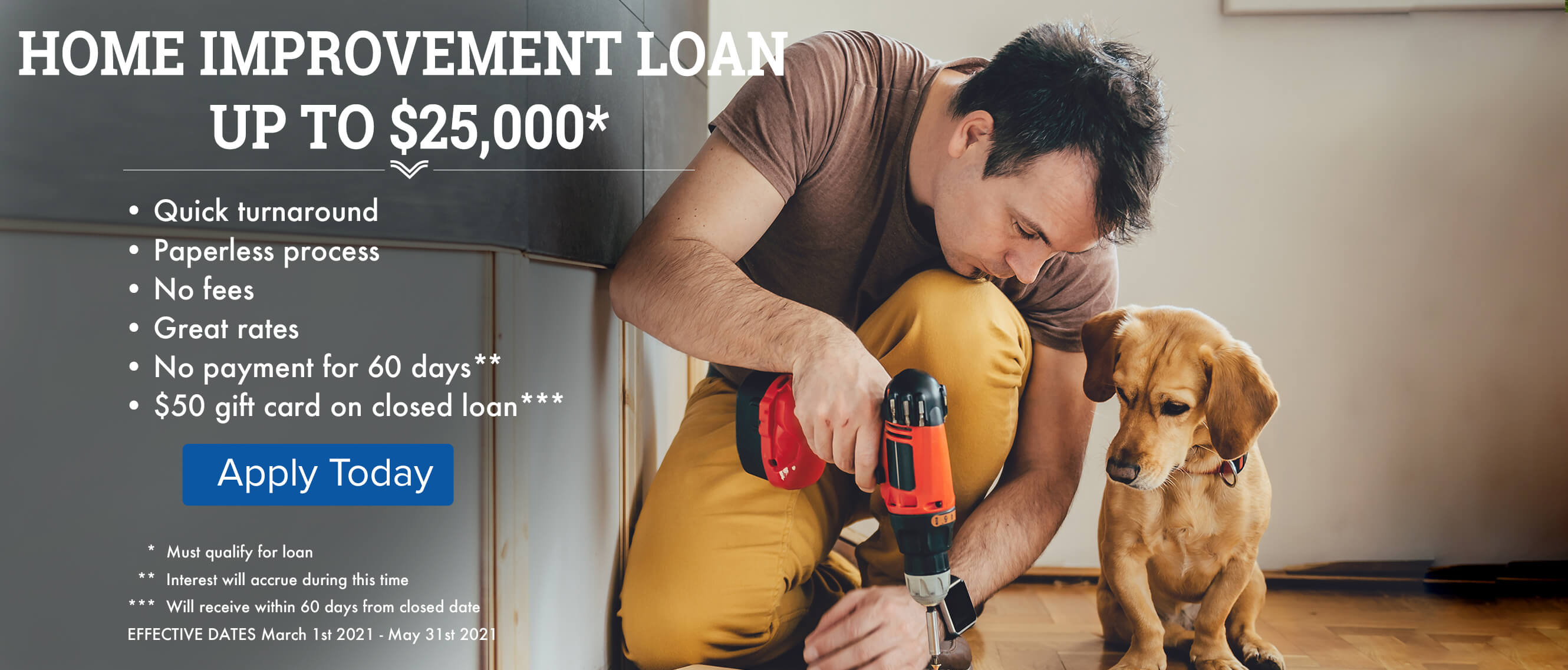 Home Improvement Loan Up to $25,000, Apply Today