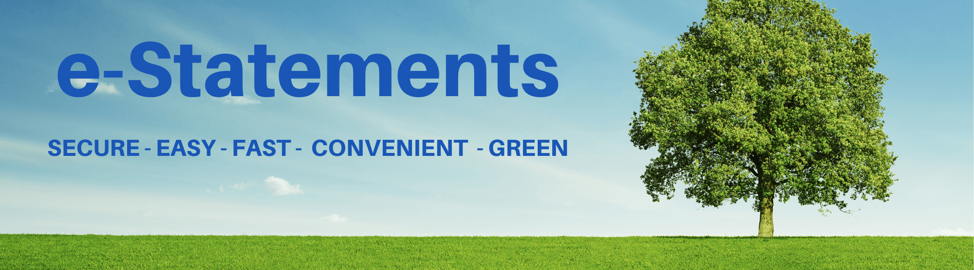 eStatements. secure, easy, fast, convenient, green.