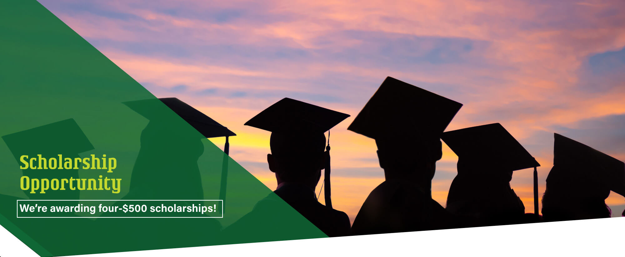 Seniors, apply for our college scholarship.