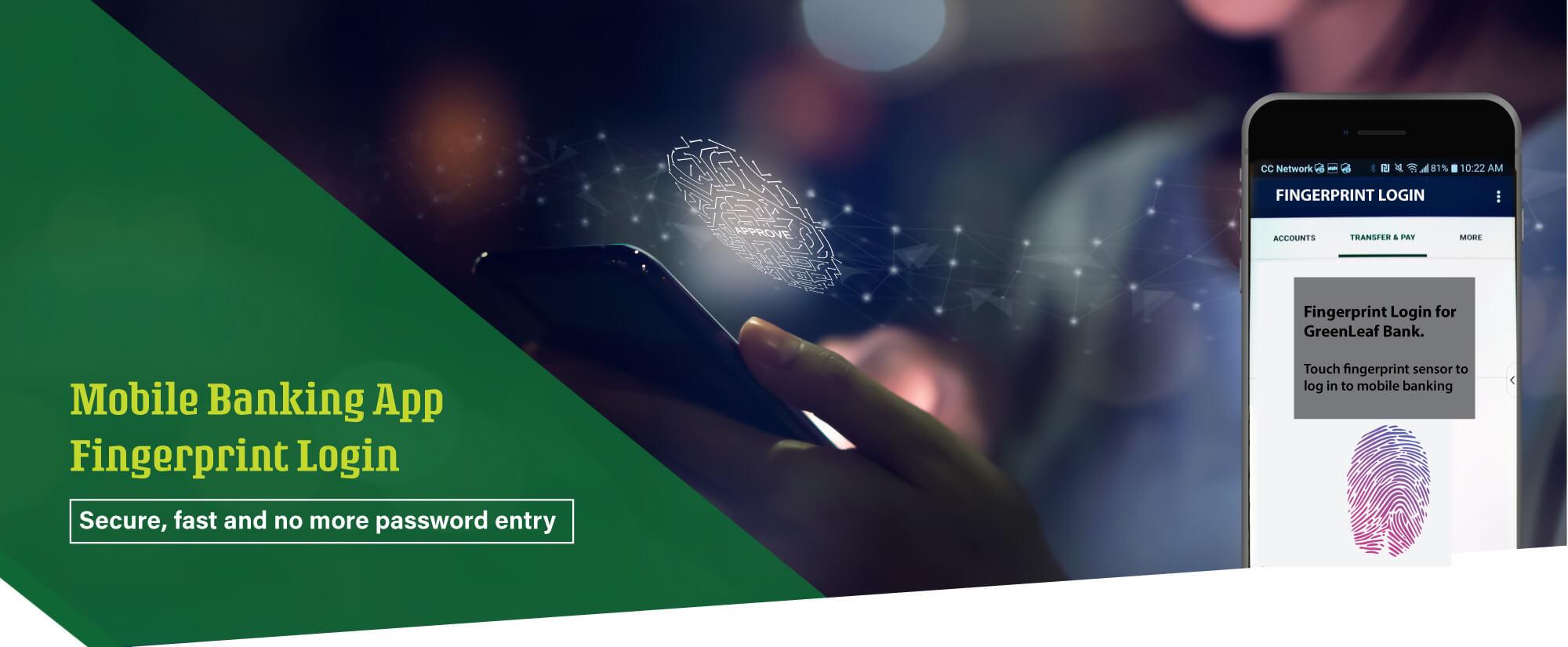 Fast, Secure and No More Password. Mobile App fingerprint login
