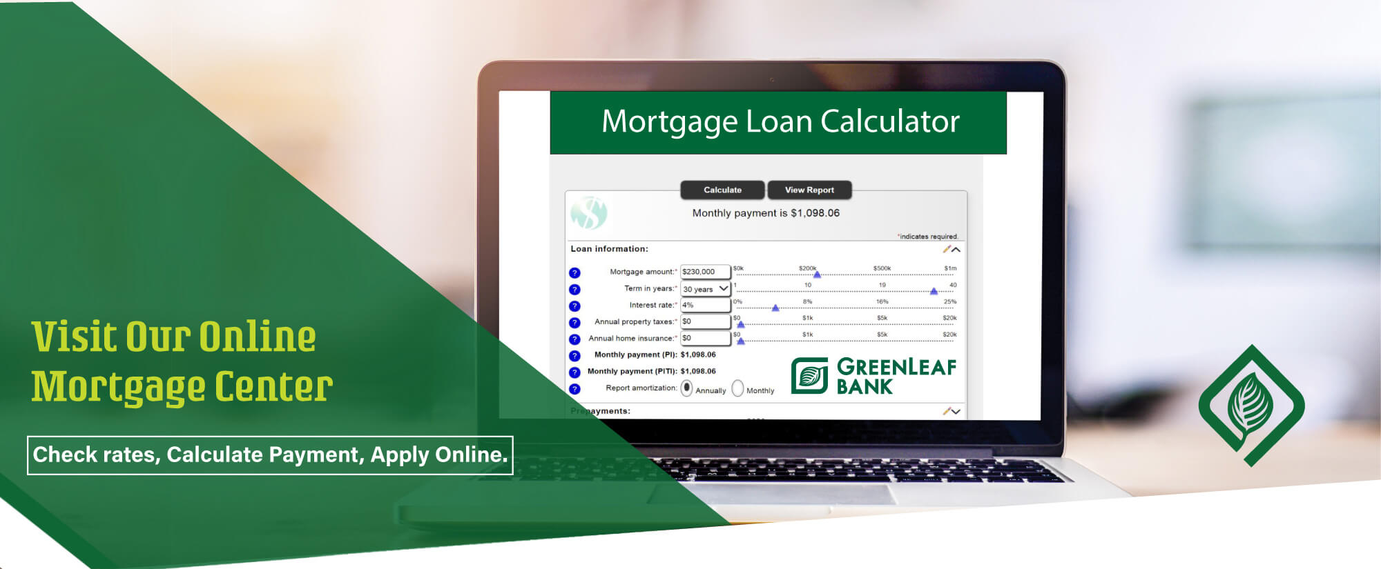 Check Rates, Calculate Payments and Apply Online