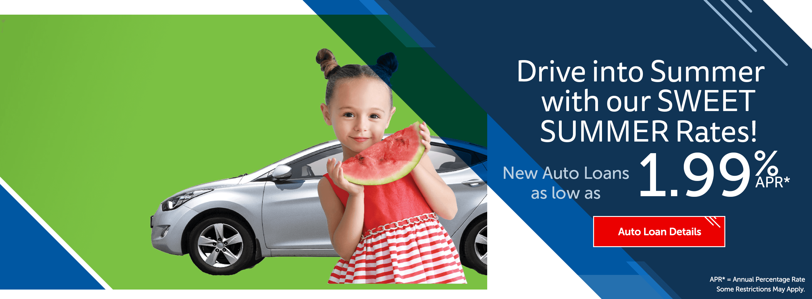 Drive into summer with our sweet summer rates